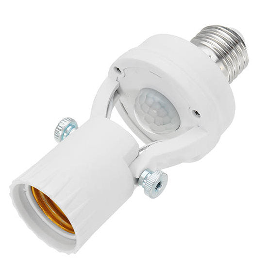 LUSTREON E27 Screw-Head Rotatable Infrared PIR Motion Sensor Bulb Socket-(60w)(AC100-240V)-(BN-1243341)