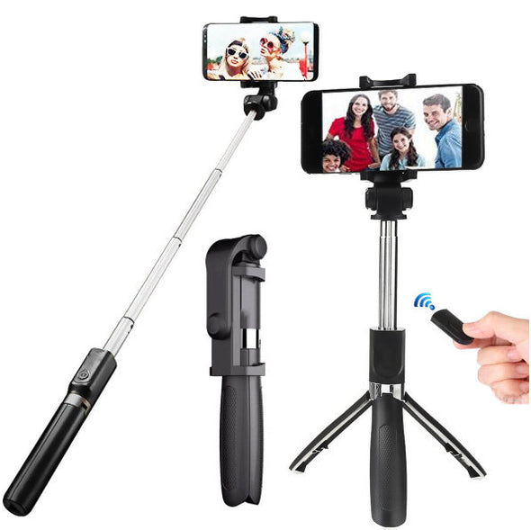 "OLDRIVER L01 bluetooth Remote Control Selfie Stick Tripod for 3.5-6.2"" Smartphones-(Length-70cm)-(BN-1299003)"