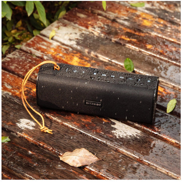 [2 in 1]-(Bluetooth Speaker-Powerbank for emergency charge)-BlitzWolf-BW-WA2 20W Wireless bluetooth Speaker Dual Passive Diaphragm TWS NFC Bass Stereo Outdoors Soundbar with Mic-(BNV-1463865)