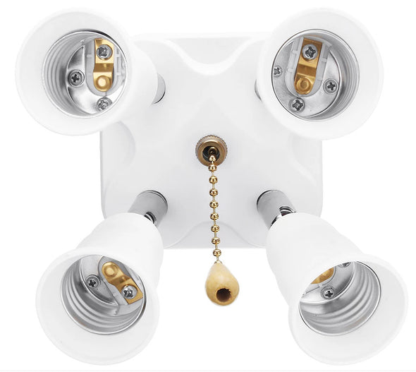 E27 Screw Head-(Adjustable 4-Light Bulb Adapter Splitter with ON OFF Chain Switch)-(BN-1368691)