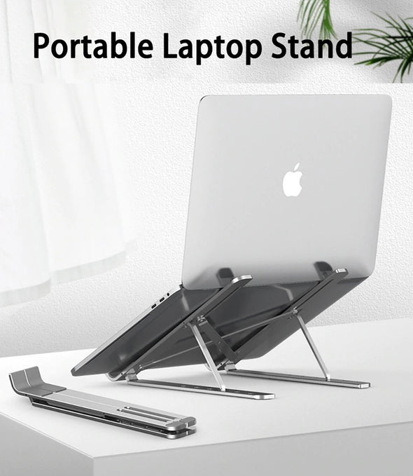 (CUND-005)-2 IN 1 Foldable Laptop Tablet Stand With Cooling Fan Heat Dissipation