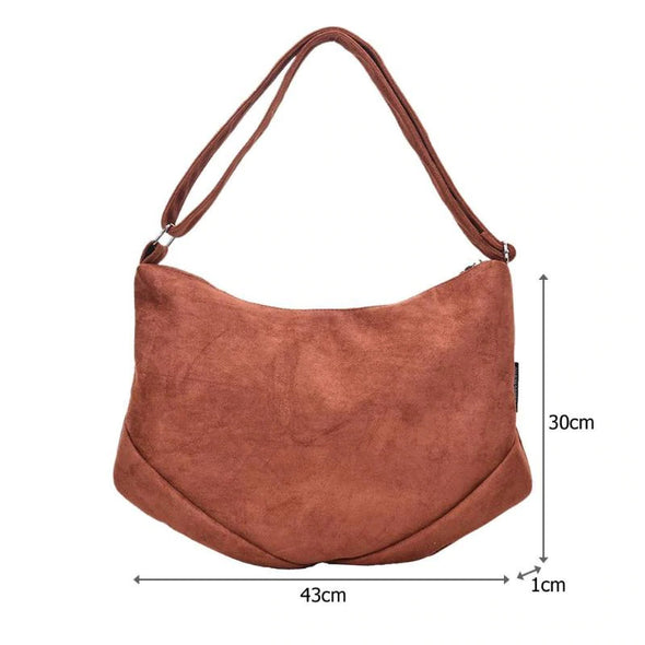 (WHSK-008)-Retro Solid Color Crossbody Handbag PU Leather Large Capacity Shoulder Messenger Bags