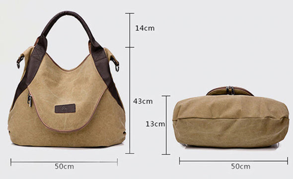 Canvas Big Capacity Bags-(WHSK-009)