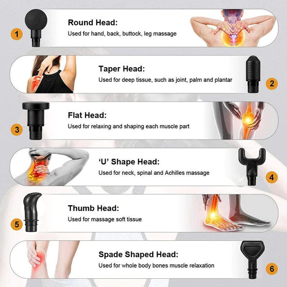 (HSN-009)-LCD Display Massage Gun Deep Muscle Massager Muscle Pain Body Neck Massage Exercising Relaxation Slimming Shaping Pain Relief-(457 Sold)