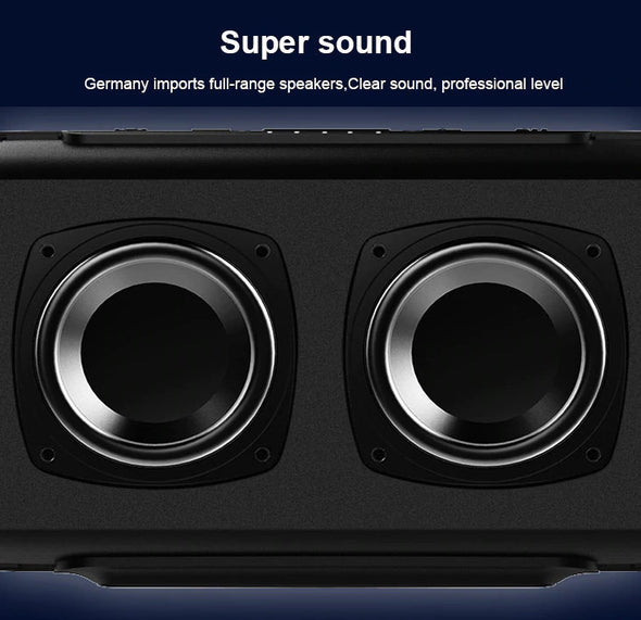 (SPND-001)10W-Powerful Portable Bluetooth Wireless Speaker Column with LED Light TF FM Radio Boombox Built-in Mic