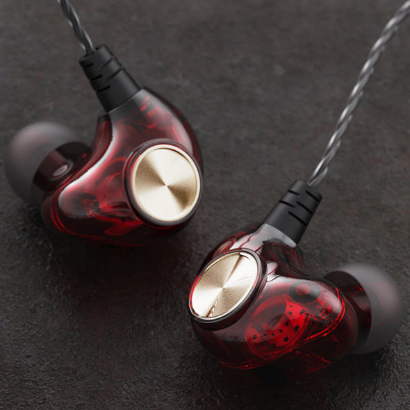 (EPN-001)-3.5mm Hybrid HiFi-Transparent Shell Wired Earphone Stereo Music Deep Bass