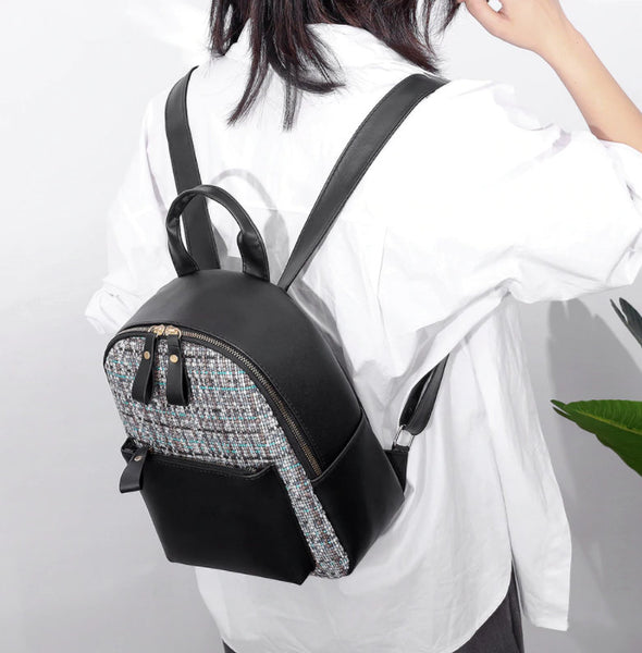 PU Leather Texture Delicate Creative Design Backpacks-(WBKU-001)