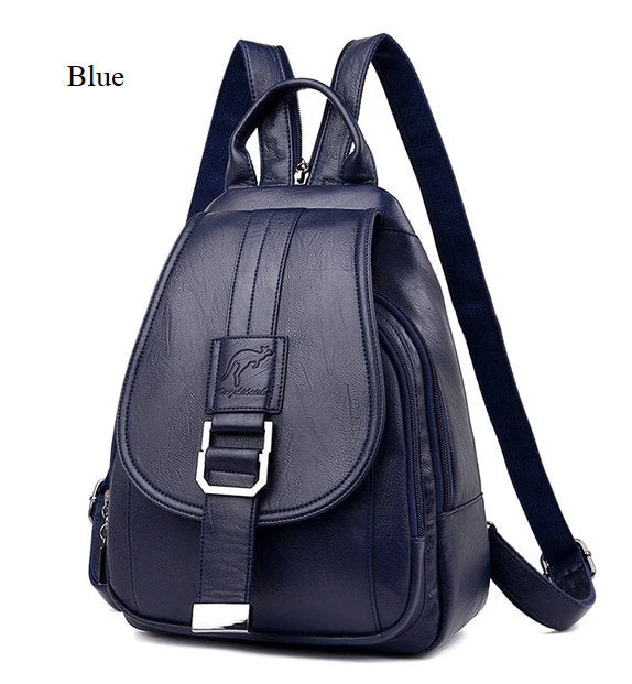 (WBN-005)-Women PU Leather Backpack