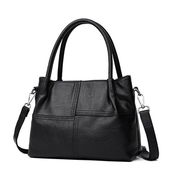 (WHSK-002)-Soft PU Leather Handbag-Shoulder bag