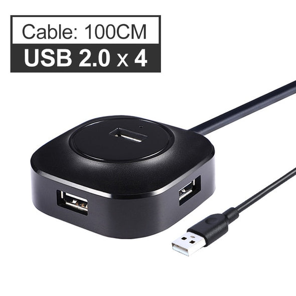 (CUN-007)-2.0 USB Hub/3.0 USB Hub/ Multi USB Splitter Adapter 4 Ports Speed For PC