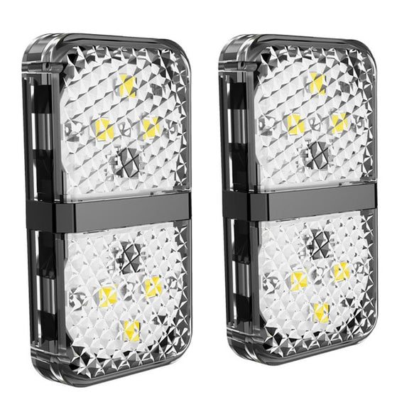 (HSN-008)-Car Door Opening Warning Lights Waterproof 6 LED-Safety Lamps Auto Open Sticker Safety Flashing Warn Light Anti Collision-(748 Sold)