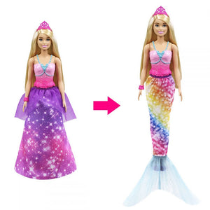 Barbie Dreamtopia - Prinsesse,  2-in-1 Dukke