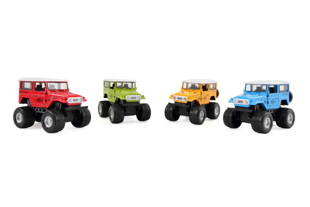 Monster Truck Jeep med pullback funktion