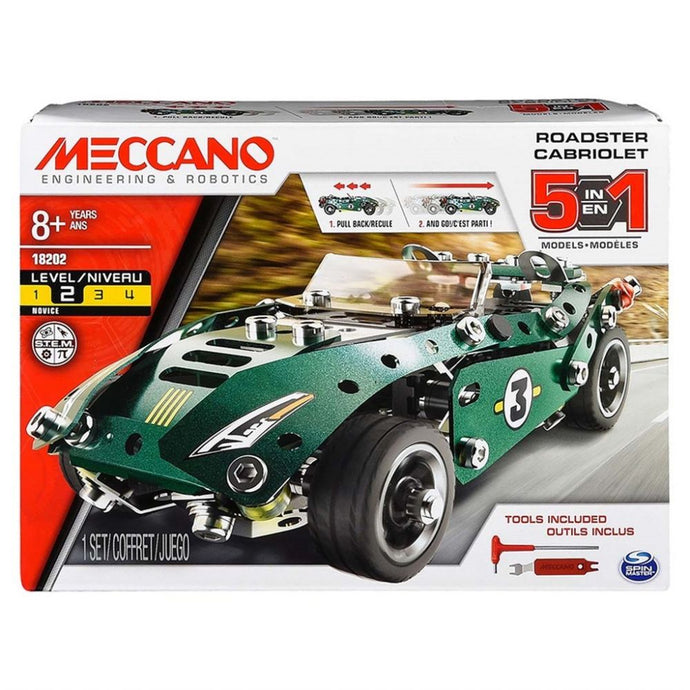 Meccano model Sæt - Pull Back Car, Multi 5