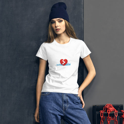 Women's T-shirt with heart