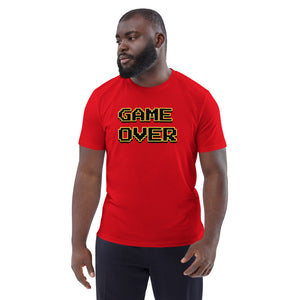 Game Over design unisex T-shirt in organic cotton