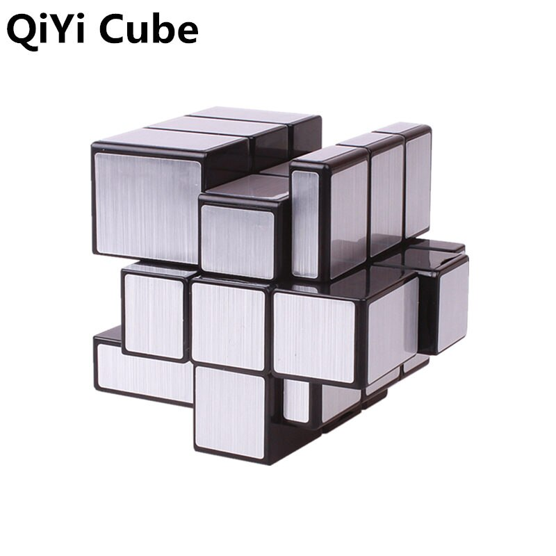 QIYI Mirror Cube 3x3x3 Magic Speed Cube Silver Gold Stickers Professional Puzzle Cubes Toys For Children Mirror Blocks 3x3 Cube