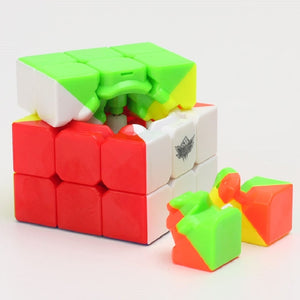 Cyclone Boys 3x3x3 Magic Cube Puzzle Competition Speed Puzzle neo Cube Toys For Children Kids magico No Sticker Rainbow