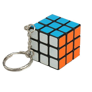 Keychain Rubik's Cube Puzzle Magic Game Toy Key Keychain Rubiks Cube Phone Pendant Mini Cube Pendant