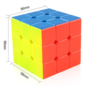 D-FantiX Cyclone Boys 3x3x3 Magic Cube Professional Speed Cubes 3x3 Puzzles 3 by 3 Speedcube (56mm)