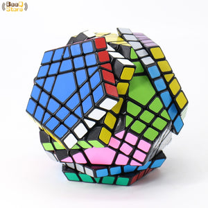 Shengshou Wumofang 5x5x5 Magic Cube Shengshou Gigaminx 5x5 Professional Dodecahedron Cube Twist Puzzle Learning Educational Toys