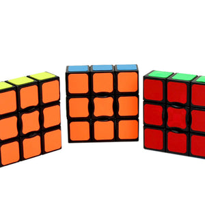 133 Classic Magic Toy Cube Black Standard Single-Level Entry 1X3X3 Speed Cube Colorful Children's Intellectual Puzzle