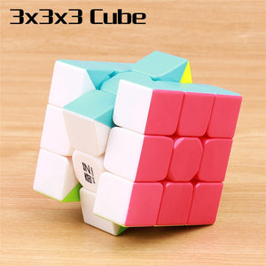 QIYI warrior 3x3x3 magic speed cube stickerless 4x4x4 professional puzzle cubo 5x5x5 smoothly cubes educational toys