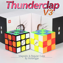 Carica l'immagine nel visualizzatore di Gallery, 3x3x3 Puzzle Magnetc Cube 3x3 MoFangGe Thunderclap V3 M Regular & Magnetic Magic Speed Cube Professional Magico Cubo Toy