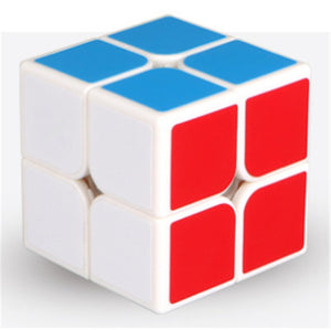 New 2X2 Magic Cube 2 By 2 Cube 50mm Speed Pocket Sticker Puzzle Cube Professional Educational Toys for Children Use for Match