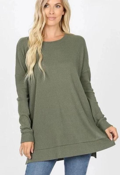 Brushed Thermal Long Sleeve Top