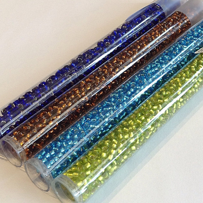 Seed Beads - 8/0 Silver/Gilt Lined