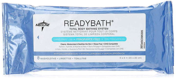 Medline ReadyBath Complete Washcloths 8 per Pack - Fragrance free