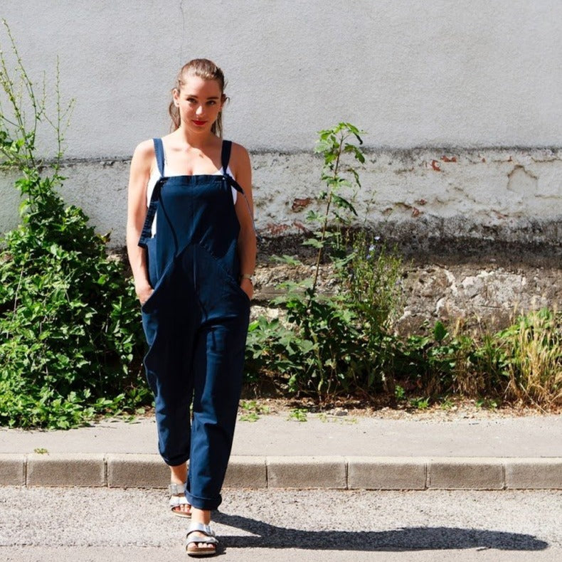 Dungarees - navy