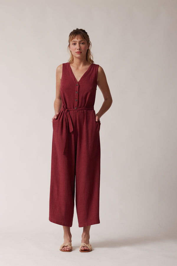 Baía jumpsuit - wine