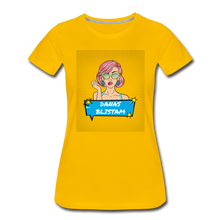Laden Sie das Bild in den Galerie-Viewer, Danas blistam Pop Art T-Shirt Women - Sonnengelb