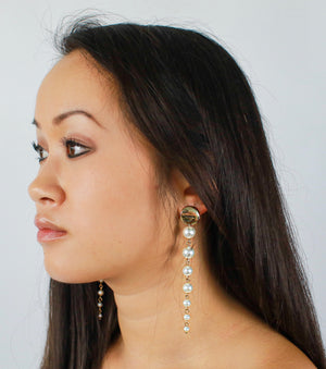 Sky Pearl Drop Earrings