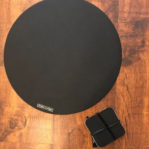Studio Leather Placemats & Coasters - Black