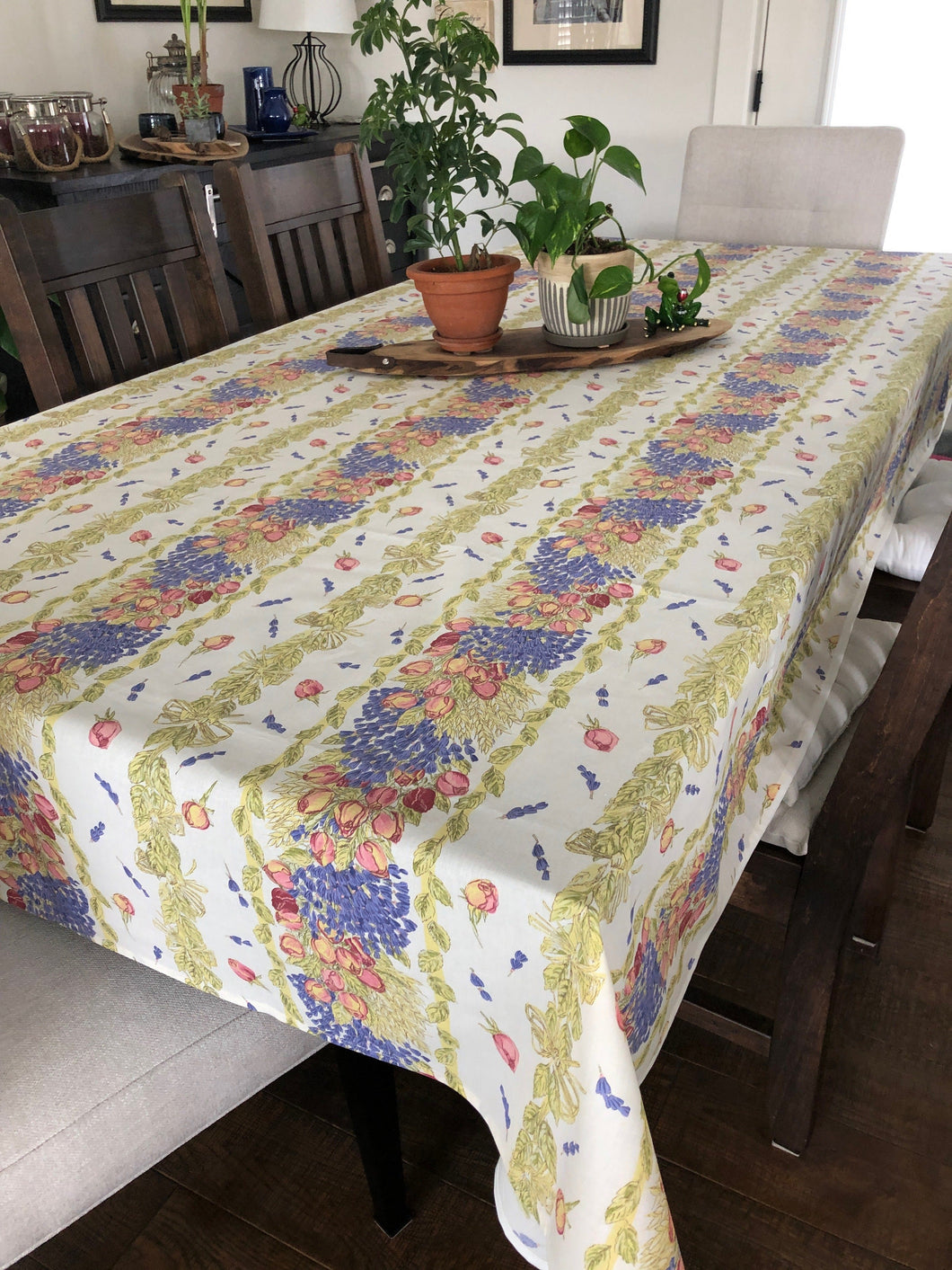 Lavender & Roses Rectangular Tablecloth