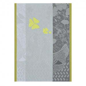 Jacquard Français Tea Towel - Farm Family Yellow
