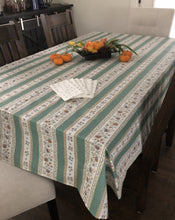 Load image into Gallery viewer, Beaucaire Rectangular Tablecloth - Linear Design