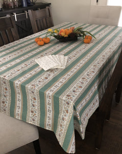 Beaucaire Rectangular Tablecloth - Linear Design