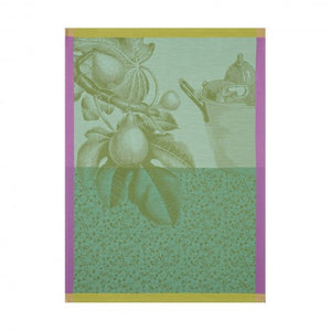 Jacquard Français Tea Towel - Fruits du Verger Green