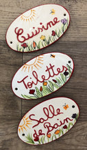 Load image into Gallery viewer, French Ceramic Door Plaques