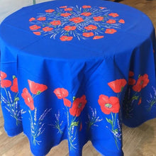 Load image into Gallery viewer, Poppy Round Tablecloth