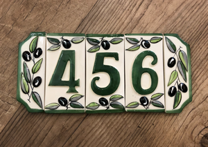 French Ceramic House Numbers