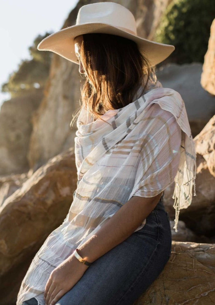 Turkish Cotton Scarf - Audrey Blush