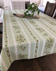 Olive Rectangular Tablecloth