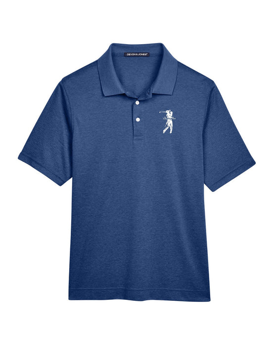 Danger Close Golf  Men's Pima-Tech™ Jet Piqué Heather Polo