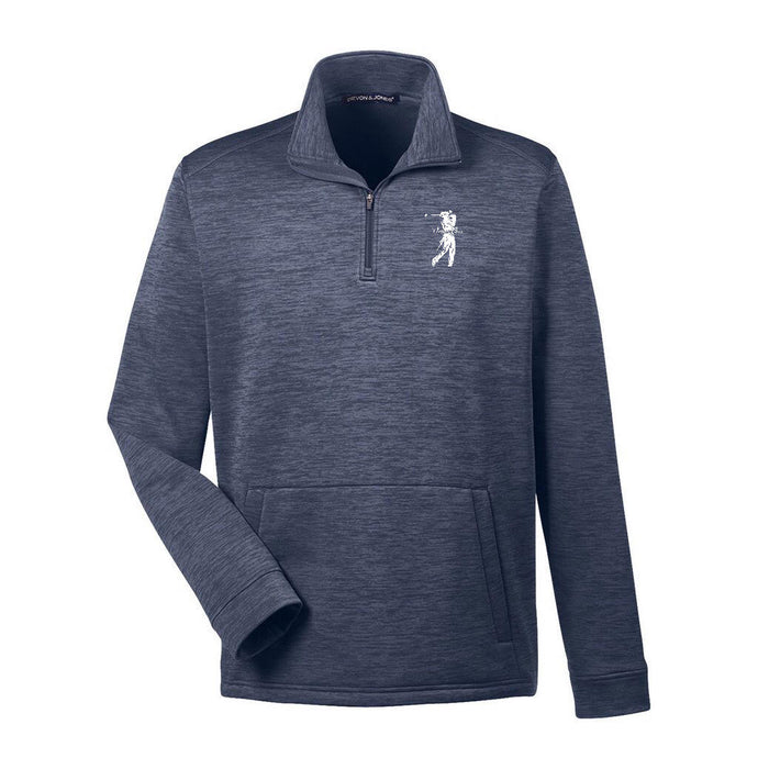 Danger Close Golf Men's Newbury Melange Fleece Quarter-Zip
