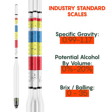 Load image into Gallery viewer, Triple Scale Hydrometer Kit